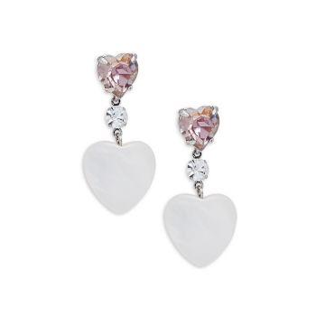 Holli Crystal & amp; Серьги-капли с жемчугом в форме сердца DANNIJO