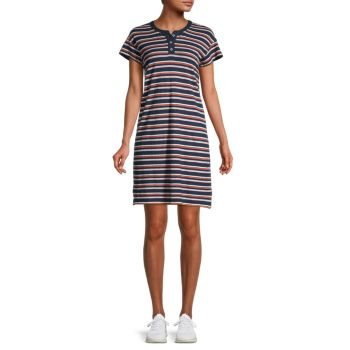 Striped Henley Dress Madewell