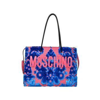 Бархатная жаккардовая сумка через плечо с цветочным рисунком Moschino