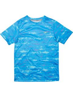 Плавательная рубашка с короткими рукавами и принтом (для маленьких / больших детей) Speedo Kids