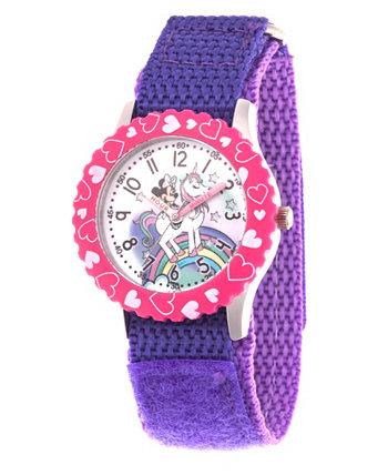 Дисней Минни Маус для девочек с фиолетовым корпусом из нержавеющей стали 32мм Ewatchfactory