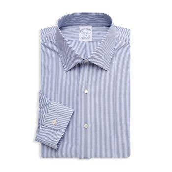 Классическая рубашка в тонкую полоску Regent-Fit Brooks Brothers