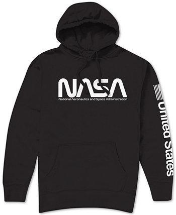 Мужская толстовка с капюшоном с логотипом NASA Hybrid