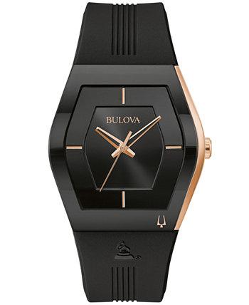 Мужские часы Latin Grammy с черным силиконовым ремешком 40,5 мм Bulova