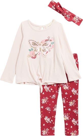 Butterfly Top, Headband and Leggings Set Btween