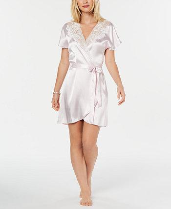 Короткий атласный халат Blush Juliet Linea Donatella