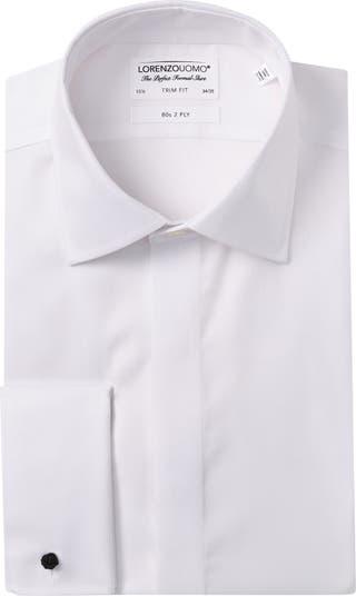 Классическая рубашка с однотонной текстурой и отделкой по фигуре Lorenzo Uomo