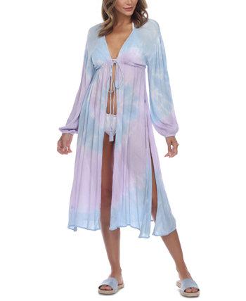 Миди-платье с завязками спереди Raviya
