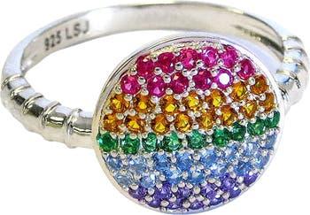 Кольцо Circle Rainbow с украшением Liza Schwartz