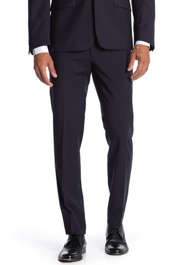 Простые темно-синие узкие брюки скинни Calvin Klein