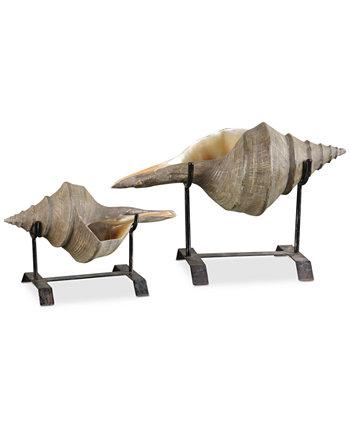 Набор из 2 скульптур из ракушек Uttermost