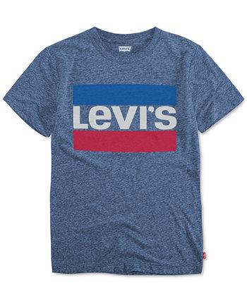 Хлопковая футболка с логотипом и принтом, Big Boys Levi's®