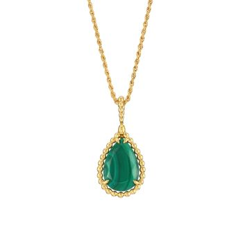 Serpent Bohème, желтое золото 18 карат & amp; Ожерелье с подвеской из малахита Boucheron