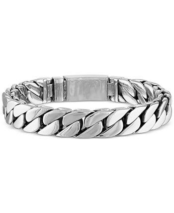 Браслет-цепочка Curb Link из нержавеющей стали с ионным покрытием золотого цвета, созданный для Macy's (также из нержавеющей стали) Esquire Men's Jewelry