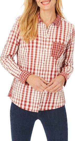 Рубашка Glenplaid с длинными рукавами и складками Hampton FOXCROFT
