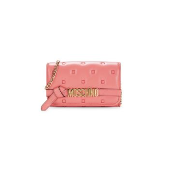 Leather Chain Wallet Moschino