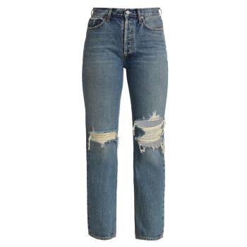 Рваные джинсы Lana с низкой посадкой AGOLDE