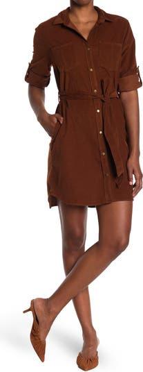 Вельветовое платье-рубашка Anita с поясом Velvet Heart