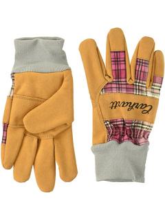 Замшевые перчатки рабочей вязки Carhartt