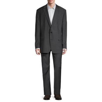 Костюм классического кроя из смесовой шерсти Ralph Lauren