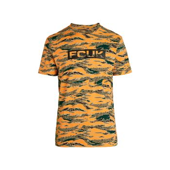 FCUK Camouflage Logo T-Shirt French Connection