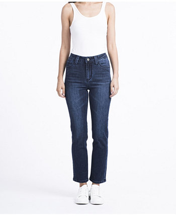 Леди прямые джинсы Rubberband Stretch