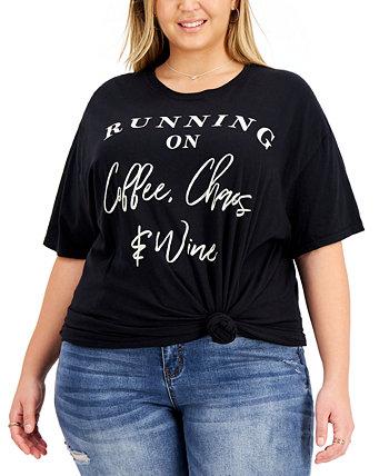 Модная хлопковая футболка больших размеров с графическим рисунком Love Tribe