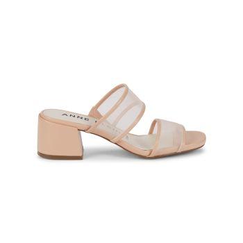 Bella Mesh Heeled Sandals Anne Klein