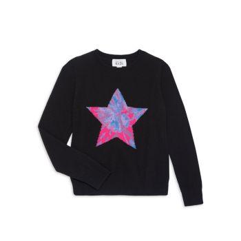 Свитер Little Girl's & Girl's Tie-Dye Star Autumn Cashmere