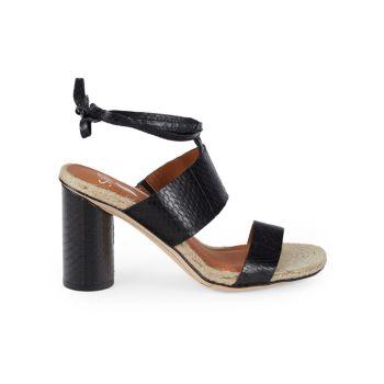 Кожаные босоножки на каблуке Obi из змеиной кожи SARTO BY FRANCO SARTO