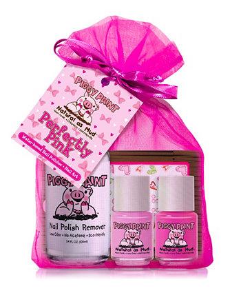 Perfectly Pink Набор для лака и средства для снятия лака для ногтей Piggy Paint