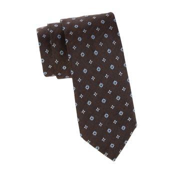 Diamond Silk & amp; Льняной галстук Brioni