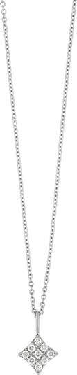 Ожерелье с подвеской с призмой и бриллиантом из белого золота 18 карат - 0,13 карата Bony Levy