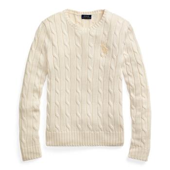 Вязаный свитер с вышивкой бисером и пони Ralph Lauren