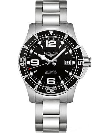Мужские швейцарские автоматические часы-браслет из нержавеющей стали HydroConquest 41мм Longines