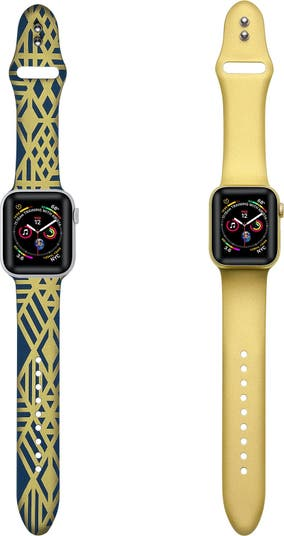 Металлические силиконовые ремешки для Apple Watch - набор из 2 шт. - 42 мм / 44 мм POSH TECH