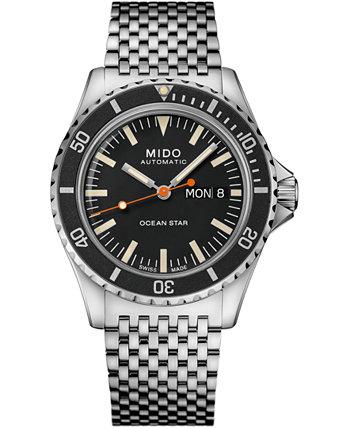 Мужские швейцарские часы с автоподзаводом Ocean Star Tribute 75th Anniversary из нержавеющей стали с браслетом 41 мм MIDO