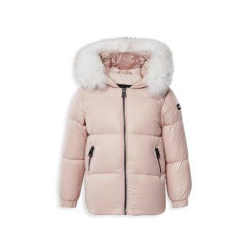 Пуховая парка Morgan Lustrous Fox Fur-Hood с капюшоном Baby Girl Mackage