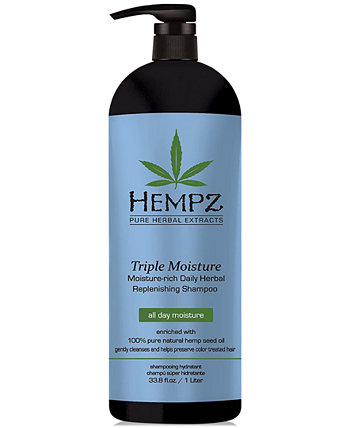 Травяной шампунь Triple Moisture, 33 унции, от PUREBEAUTY Salon & Spa Hempz