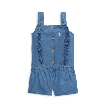 Little Girl's 2-Piece Denim Top & Shorts Set Calvin Klein