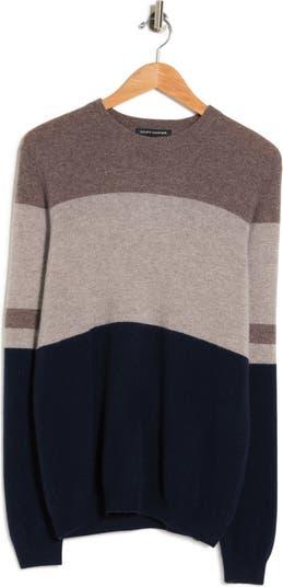 Кашемировый свитер в полоску с цветными блоками Autumn Cashmere