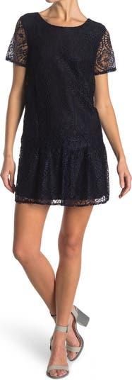 Кружевное платье с накладками FRNCH