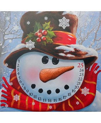 Холст с подсветкой: Рождественский календарь снеговика, 16 x 20 дюймов Trendy Décor 4U