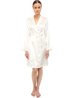 Шелковый короткий халат La Perla