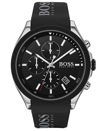 Мужские часы с силиконовым ремешком и хронографом 45mm 45mm HUGO BOSS