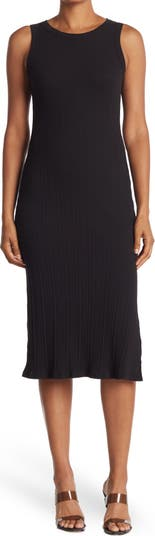 LUSH High Neck Ribbed Knit Midi Dress ALL IN FAVOR