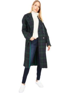 Двустороннее шерстяное пальто реглан в клетку Avec Les Filles