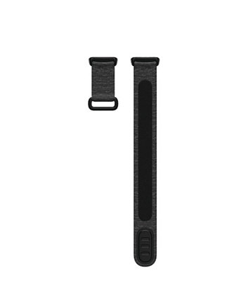 Charge 5 Charcoal Nylon and Polyester Hook and Loop Band, Large Fitbit