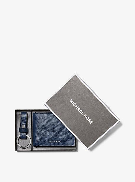 Бумажник-бумажник из кожи Crossgrain с цепочкой для ключей Michael Kors
