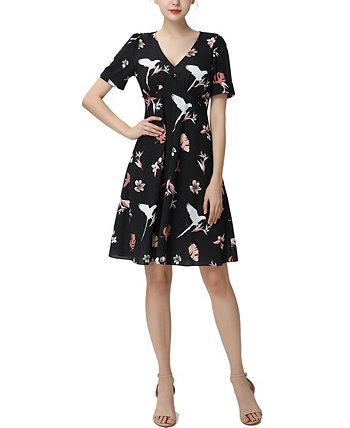 Женское расклешенное платье Una Fit Kimi + kai